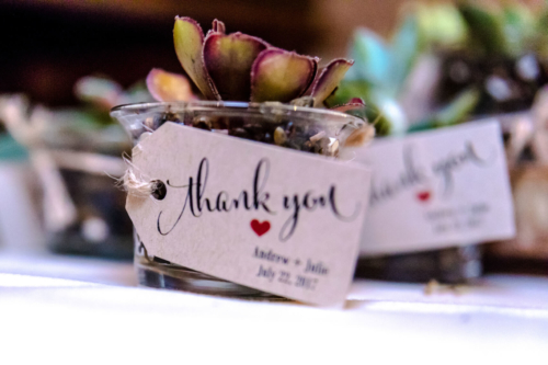 Wedding favour thank you cards