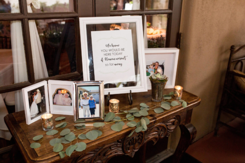 Remembrance tables are a special detail for your special day